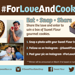 "Enter to win a 10"" Heart Cookiegram!"