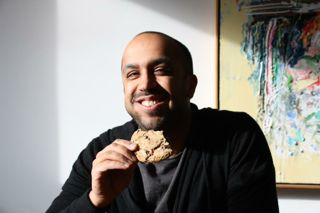 Hard working author + Sweet Flour Chocolate Chunk Cookie = Happiness